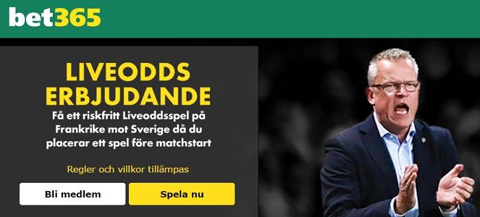 Odds Frankrike - Sverige VM kval 11 november 2016 + Erbjudanden